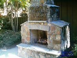 download back yard fireplace garden design