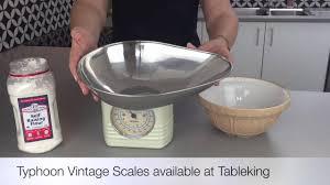 Vintage Kitchen Scales Typhoon Vintage Scales Youtube