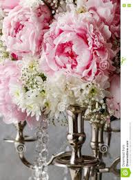 floral arrangement with pink peonies white chrysanthemums and g