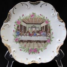 lord s supper plates the supper porcelain plate 18k gold trim made in japan ebay