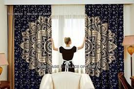 ombre mandala indian curtains gold wall tapestry window curtain