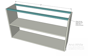 White 2 Shelf Bookcase by Ana White Grace U0027s Bookshelves Plans For Two Diy Projects