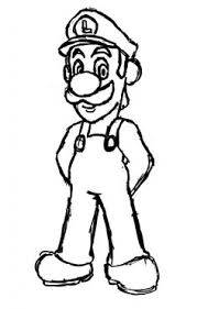 luigi coloring pages print cartoon coloring pages