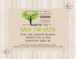save the date flyer family reunion printable digital