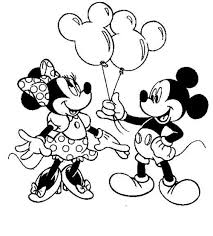 unique design mickey and minnie coloring pages free printable