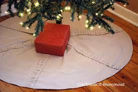 diy ruffled drop cloth tree skirt tutorial