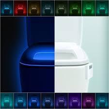 toilet light design advanced 16 color cycle motion sensor led night light