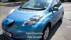 nissan leaf quick charger charging a nissan leaf with evse cable youtube