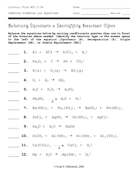 all worksheets balancing equations worksheet key free