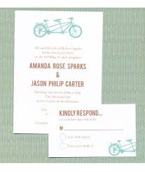 tandem bike wedding invitation rsvp free printable