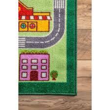 Kids City Rug by Amazon Com Nursery City Neighborhood Multi Kids Area Rugs 5 Feet