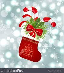 holidays xmas sock with sweet canes stock illustration i3359109