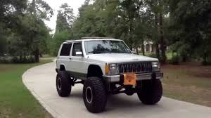 2016 jeep cherokee sport lifted jeep cherokee xj tour with 8in lift rolling on 35s youtube