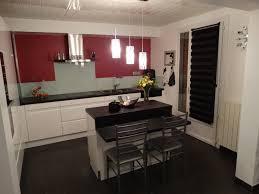 cuisine noir laqué plan de travail bois cuisine noir plan de travail bois blanc meilleur idées de