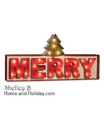 merry marquee lighted sign bethany lowe shelley b home