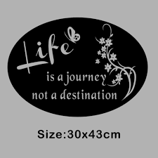 quote journey home aliexpress com buy life is a journey not a destination vinyl art