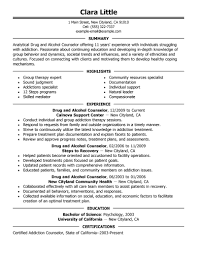 substance abuse counselor resume resume for your job application