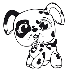 littlest pet shop spotted dog littlest pet shop coloring pages