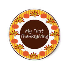 my 1st thanksgiving my thanksgiving stickers zazzle