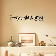 autocollant chambre bébé chaque enfant est un artiste romantique amovible vinyle stickers
