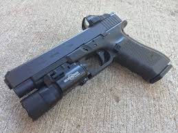 surefire light for glock 23 glock 34 gen 4 mos vortex viper 6 moa w surefire x300 ultra weapon