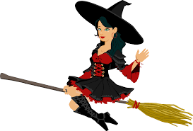 animated halloween clipart clipart flying witch