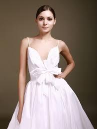 gown deep v neck spaghetti straps backless taffeta wedding dresses