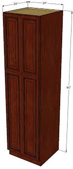 24 inch kitchen pantry cabinet brandywine maple pantry cabinet unit 24 inch wide x 90 inch high