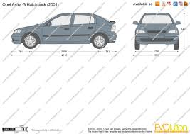 opel astra 2001 the blueprints com vector drawing opel astra g hatchback