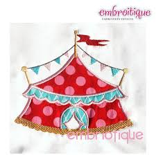 circus tent single embroidery design home decor 3 sizes for