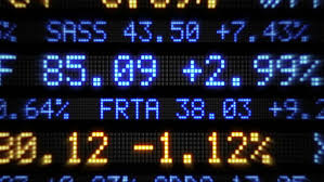 stock ticker a fictional stock market ticker stock footage 2195491