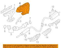 nissan sentra oem parts nissan oem 07 12 sentra 2 0l l4 exhaust manifold heat shield