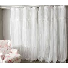 Lace Shower Curtains Sheer Style White Sheer Solid Lace Curtains