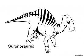 print dinosaur ouranosaurus coloring sheet printable