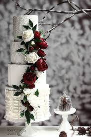 Winter Wedding Cakes Winter Wedding Cake With Faux Knitting Textures Mon Cheri Bridals