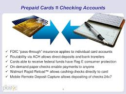 reload prepaid card with checking account prepaid cards as checking accounts