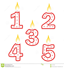 number birthday candles birthday candle stock vector illustration of cake illustration
