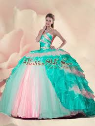 15 quinceanera dresses new style beading and ruffles multi color sweet 15 quinceanera