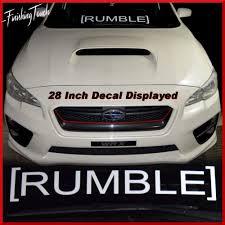 subaru windshield decal jdm rumble decal vinyl sticker subaru evo honda windshield banner