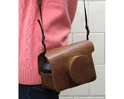 black friday sale amazon instax amazon com darkhorse retro pu leather camera case bag for