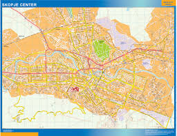 World Wall Map by World Wall Maps Store Skopje Downtown Map More Than 10 000 Maps