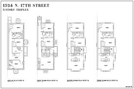 Building Plans For House by Historic Row House Floor Plans House Design Plans