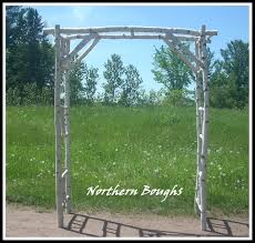 wedding arbor kits birch wedding arch arbor kit deluxe birch wedding rustic wedding