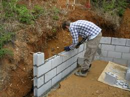 Retaining Wall Design Ideas by Cinder Block Wall Design Inexpensive Concrete Block Retaining Wall