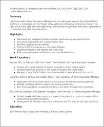 talent acquisition specialist cover letter resume talent