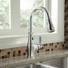 touchless faucets kitchen delta touch kitchen faucet beauteous delta pilar touch faucet