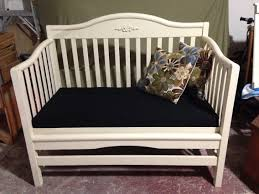How To Convert Crib To Daybed by Crib Converted To Daybed Bench Projects Diy Pinterest Daybed