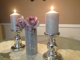 Wedding Candle Holders Centerpieces by Best 25 Bling Wedding Centerpieces Ideas On Pinterest