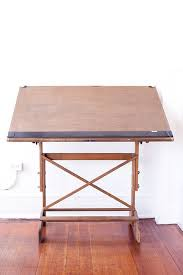 Drafting Table Vancouver Early 20th Century Art Table With Cast Iron Queen Anne Style Base