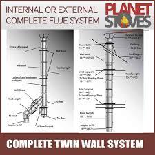 woodburner twin wall flue ebay